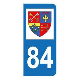 Autocollant blason 84 Vaucluse pour plaque d'immatriculation