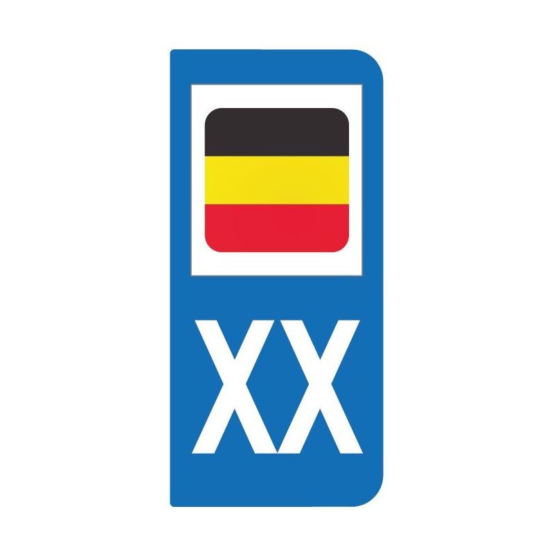 Autocollant drapeau Allemagne pour plaque d'immatriculation