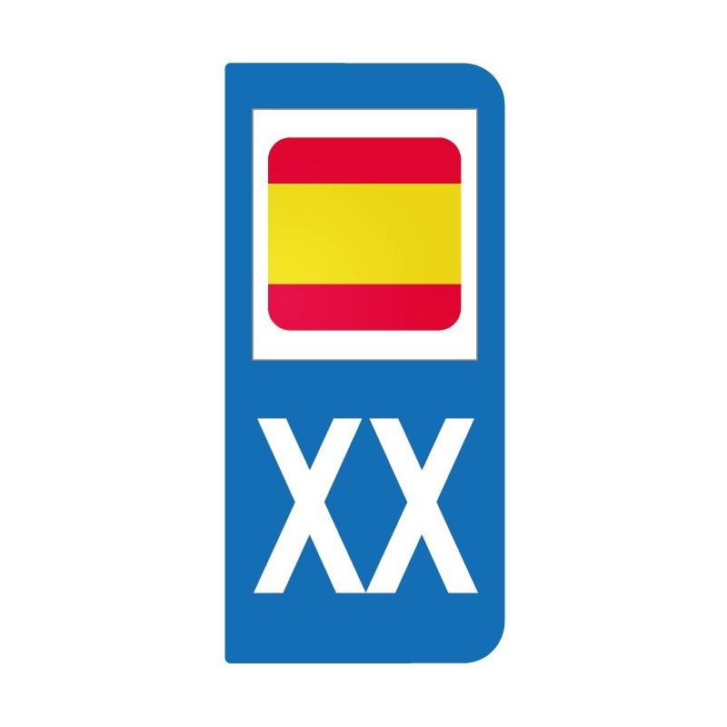 Autocollant drapeau Espagne pour plaque d'immatriculation