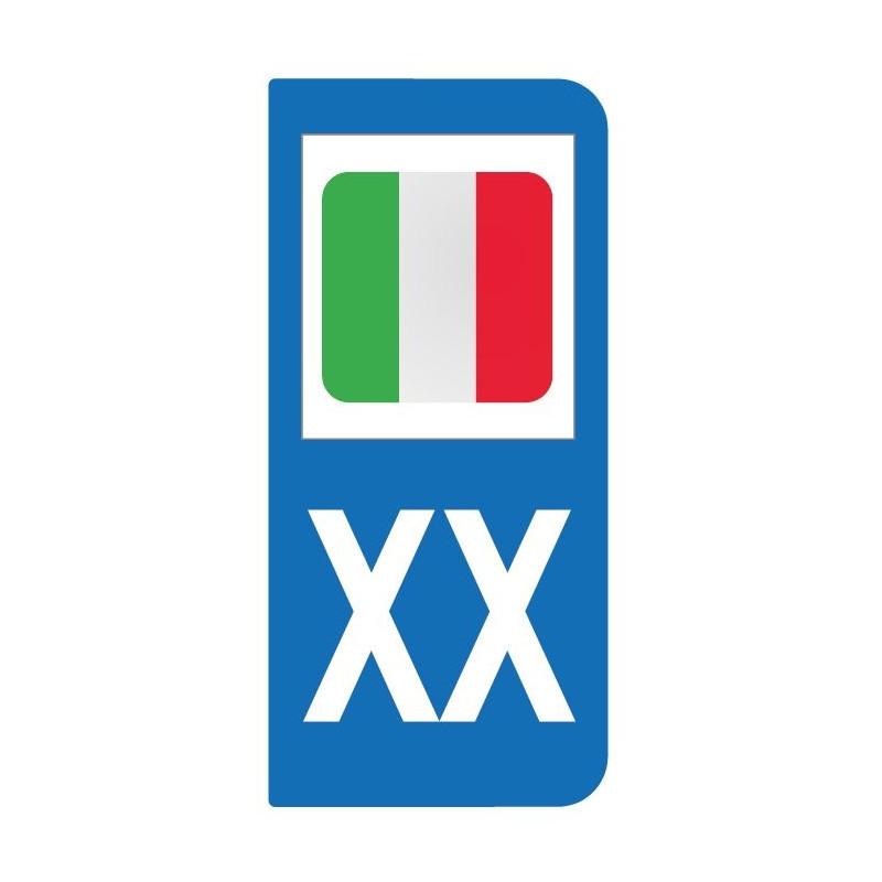Autocollant drapeau Italie pour plaque d'immatriculation