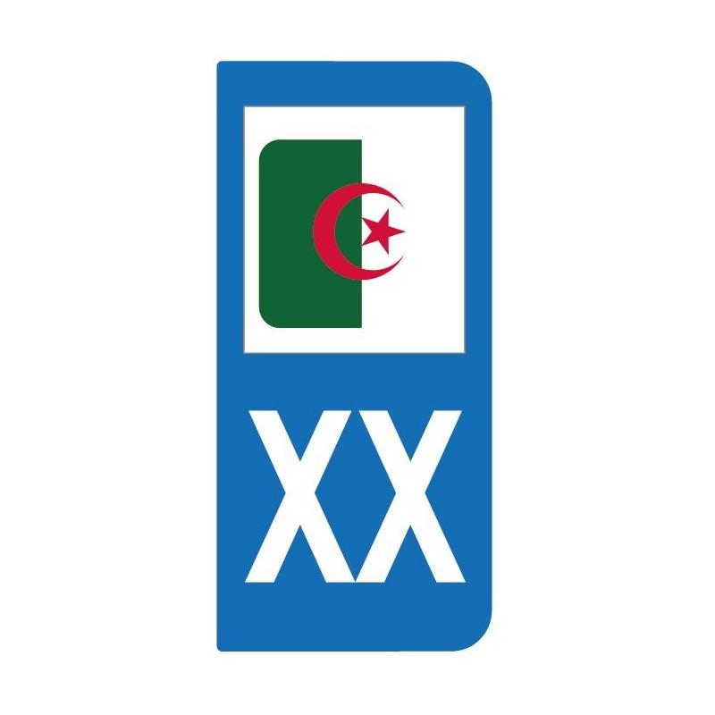 Autocollant drapeau Algérie pour plaque d'immatriculation
