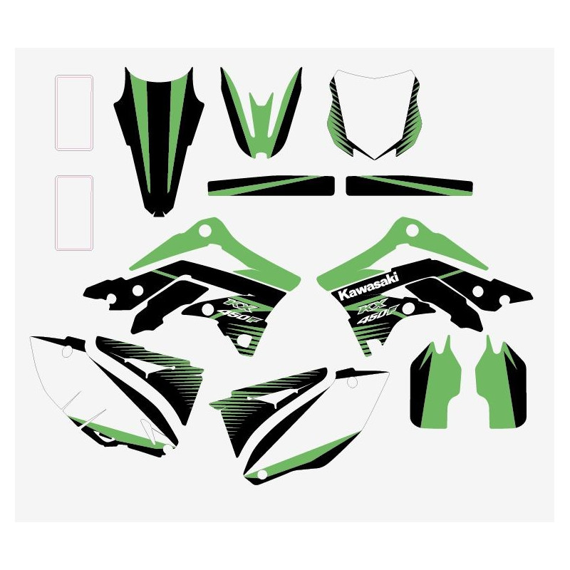 Kit sticker cross Kawasaki KXF 450 2012-15