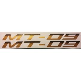 2 Stickers autocollants MT-09