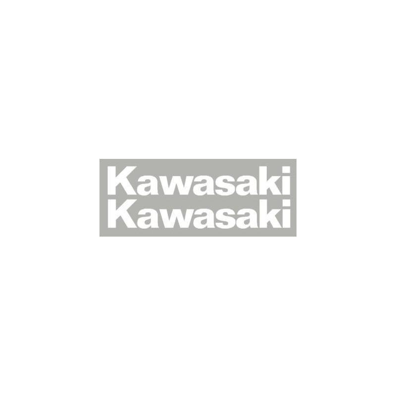 2 stickers autocollant Kawasaki 220 mm