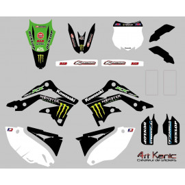 Kit stickers cross Kawasaki KX ou KXF de 2001 à 2015