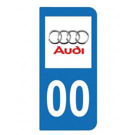 Logo Audi pour plaque immatriculation auto
