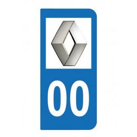 Logo Renault pour plaque immatriculation auto