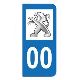 Logo Peugeot pour plaque immatriculation auto