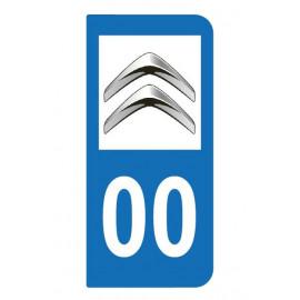 Logo Citroen pour plaque immatriculation auto