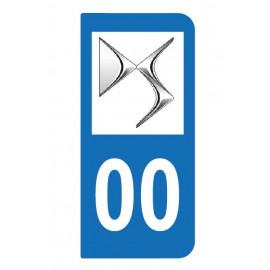 Logo DS pour plaque immatriculation auto