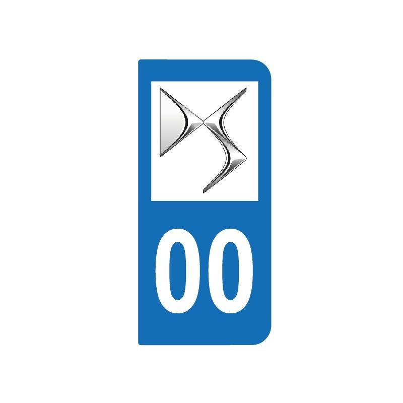 sticker logo de votre voiture pour plaque d 39 immatriculation. Black Bedroom Furniture Sets. Home Design Ideas
