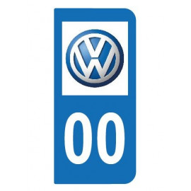 Logo Volkswagen pour plaque immatriculation auto