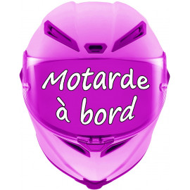 Sticker motard à bord tétine