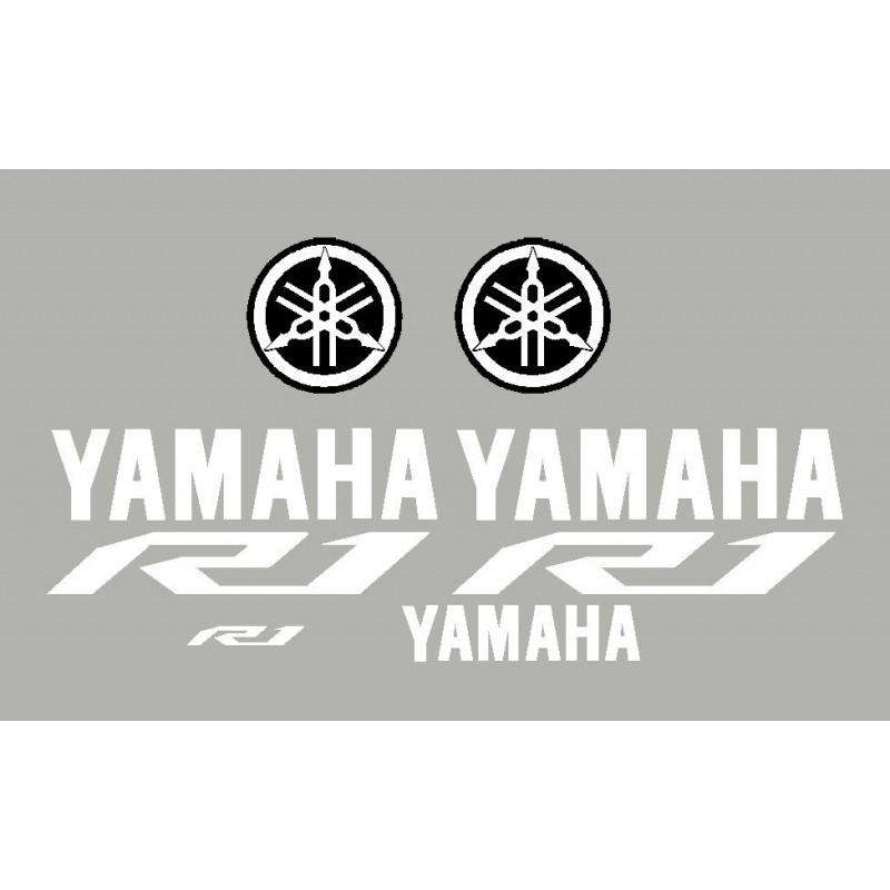 kit stickers autocollants pour moto yamaha r1 2015. Black Bedroom Furniture Sets. Home Design Ideas