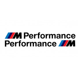 2 Stickers BMW M performance 185 mm