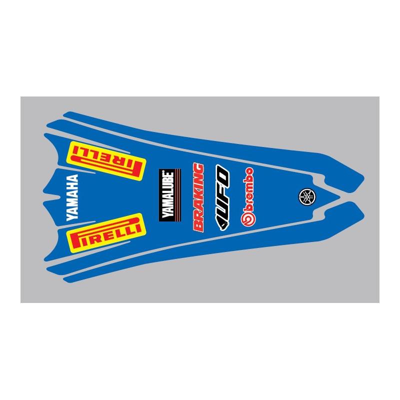 Sticker garde boue arrière pour Yamaha YZ ou YZF