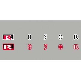2 stickers pour BMW R1150r (noir/rouge)
