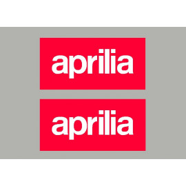2 stickers de réservoir logo Aprilia