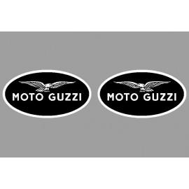 2 logos autocollant Moto Guzzi inversé