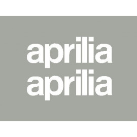 2 stickers lettrage Aprilia