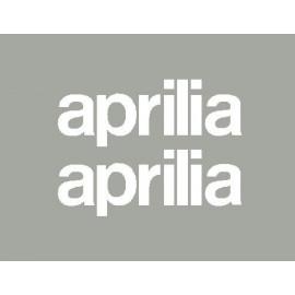 2 stickers lettrage Aprilia