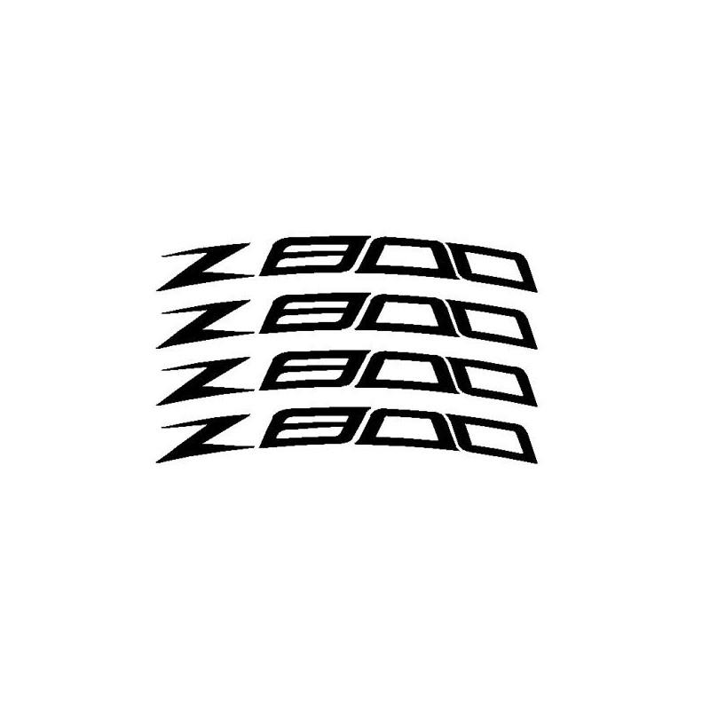 4 stickers Z800 courbé pour jante