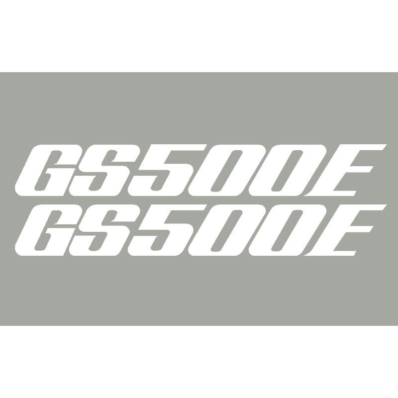 2 Stickers SUZUKI GS500E