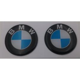 2 pegatinas logos BMW de diámetro 40 mm 3D