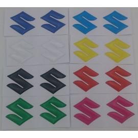 2 Logo S Suzuki en relief 3D en couleur