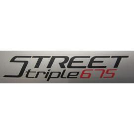 2 adesivi Street Triple 675 2016