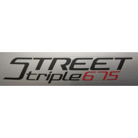 2 stickers Street Triple 675 2016