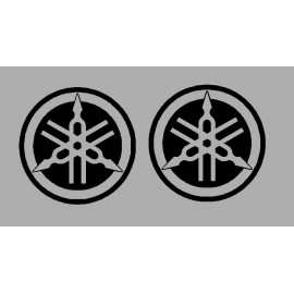 2 pegatinas logos Yamaha diamètre 50 mm