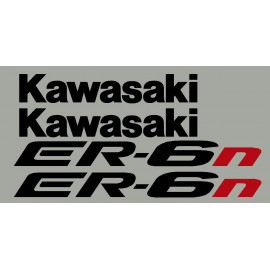 Adesivos KAWASAKI ER6n o ER6f 2005 à 2008