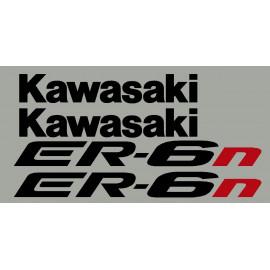 Aufkleber für Kawasaki ER6n oder ER6f jahr 2005 bis 2008