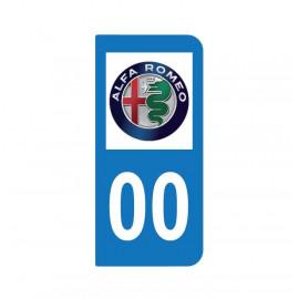 Logo Alfa Roméo pour plaque immatriculation auto