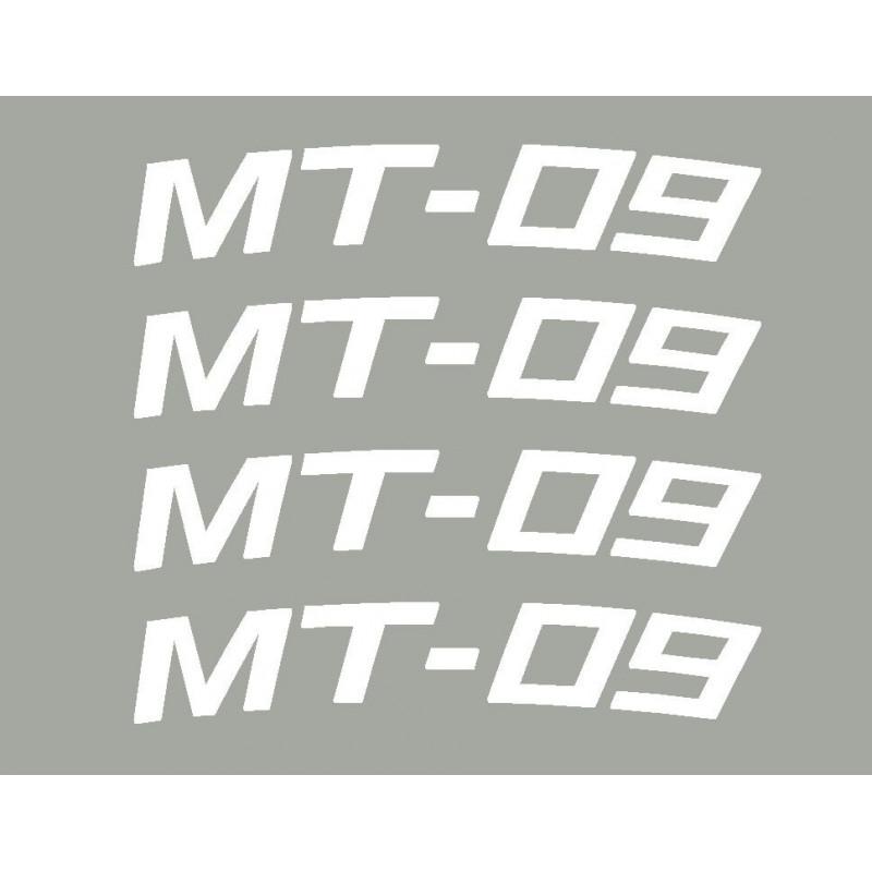 4 stickers R1 ou R6 courbé pour jante