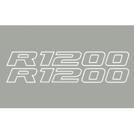 2 stickers autocollants R1200 contour BMW
