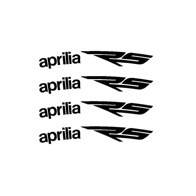 4 stickers Aprilia RS courbé pour jante