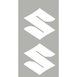 2 logo adesivi Suzuki dim 47x47 mm