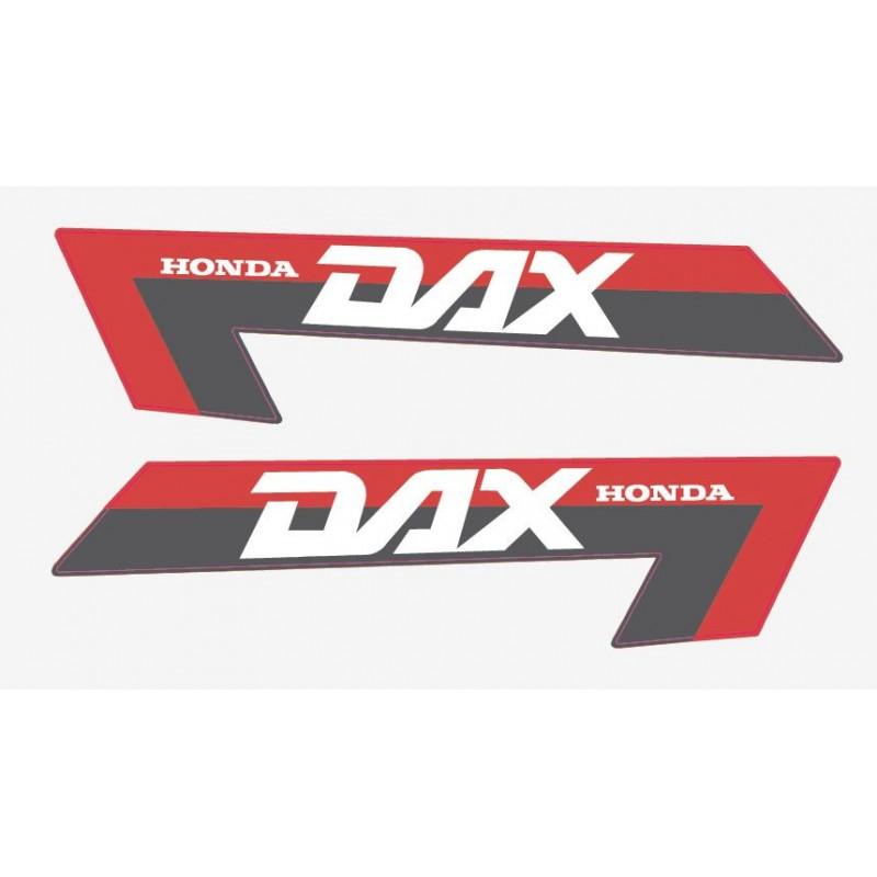 2 Aufkleber für Honda DAX rot