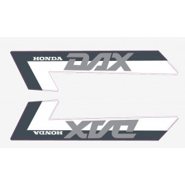 2 stickers pour Honda DAX bande anthracite/rouge