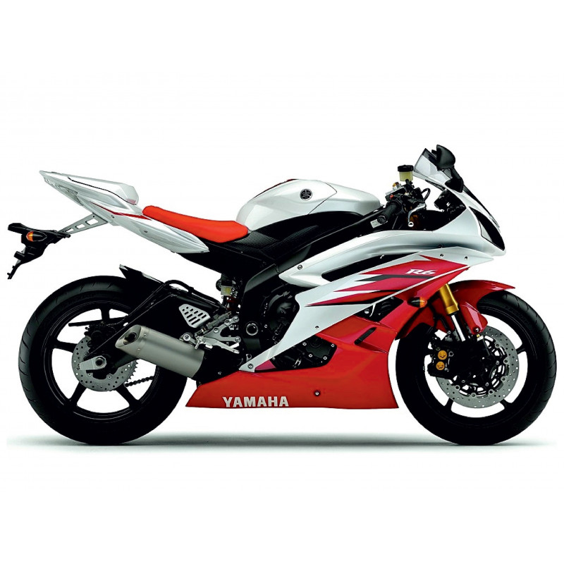 Kit Replica Yamaha R6 2006 blanc/rouge