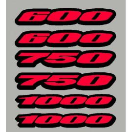 2 Stickers cylindrée pour GSXR