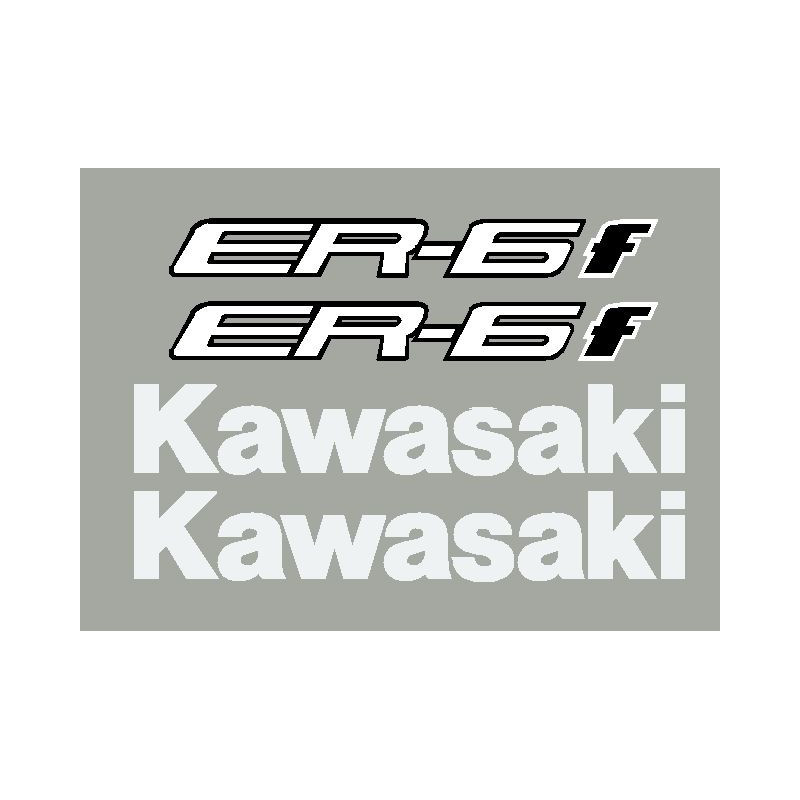 Kit stickers autocollants ER6f Kawasaki 2013-14