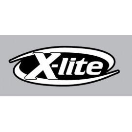 4 logos réfléchissant X-lite fond noir