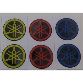 2 logos Yamaha diam 50 mm en relief 3D spéciale