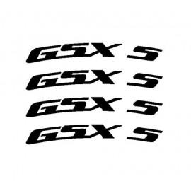 4 adesivi GSXR courbé pour jante