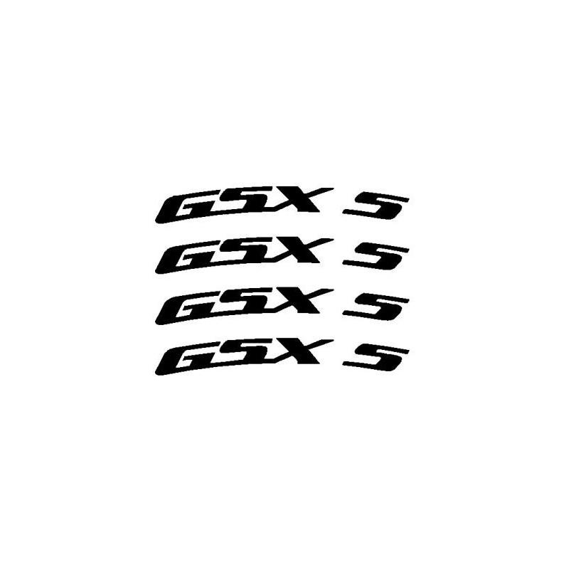 4 pegatinas GSXR curvadas para llantas