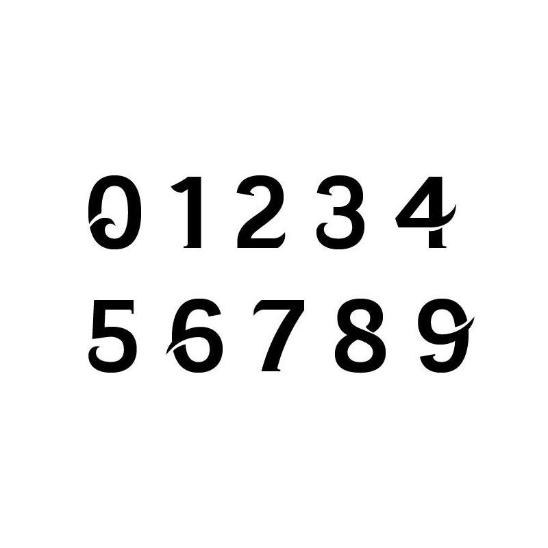 3 Numeros de course 8 cm