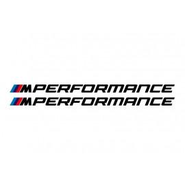 2 Stickers BMW M performance 300 mm version 2020